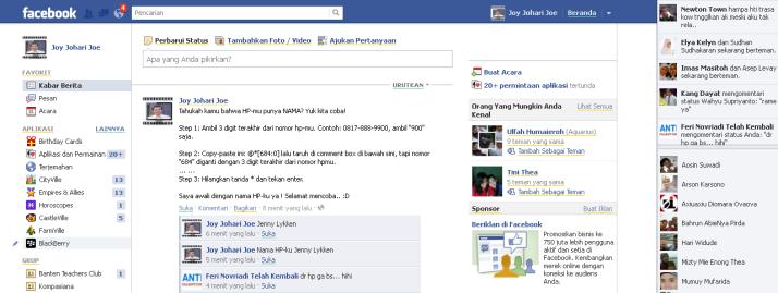 Gbr. Tampilan pada kotak komentar di fb